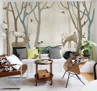 Motyw lasu w pokoju dziecka